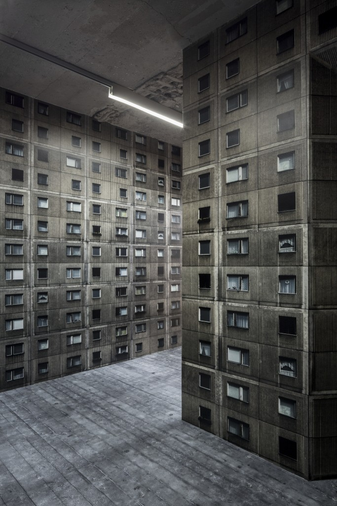 Virtual Interior BNKR. Installation, 2016. Annett Zinsmeister: Urban Shelter? / BNKR München (30.09.2016 – 26.02.2017). Fotografie: Edward Beierle.